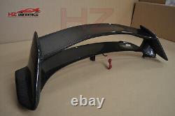 Full Carbon Fiber Boot Spoiler For Honda CIVIC Fk2 Type R + Led Light Uk Stock