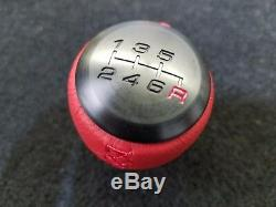 Genuine Honda Civic Type R 6 Speed Red Leather Wrapped Shift Knob 08U92-TEA-110