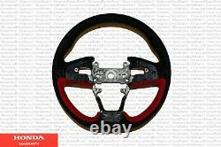 Genuine Honda Civic Type-R Alcantara Red Steering Wheel 2020-2021 Civic Type-R