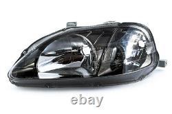 Genuine Honda Stanley CIVIC Ek9 Jdm Type-r Smoked Headlights Pair Brand New