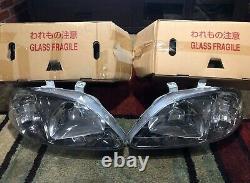 HONDA CIVIC EK9 TYPE R JDM GENUINE HEAD LIGHTS OEM 99-00 EM1 EK4 SiR Si EK3