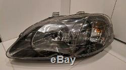 Honda CIVIC EK9 Type R 99-00 Gunmetal Headlights, LHD! Rare JDM EDM