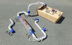 Honda CIVIC Turbo Kit Intercooler And Piping Kit Acura B16 B18 B20 + Oil Lines