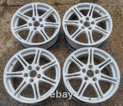 Honda CIVIC Type R Ep3 4x 17 Genuine 7 Twin Spoke White Used Alloy Wheels S202u