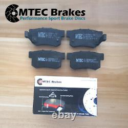 Honda Civic 2.0 Type-R EP3 01-05 Rear Drilled Grooved Brake Discs & MTEC Pads