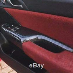 Honda Civic Carbon Fibre Door Switch Control Covers FN2 type r 2006-12 Handle