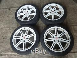 Honda Civic EP3 Type R 2001-2006 original 17 inch Alloy Wheels +good Tyres white
