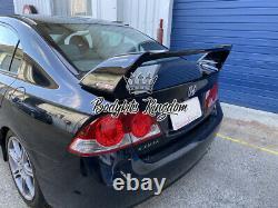 Honda Civic FD1 fd2 type r gloss black plastic spoiler wing mugen led bar gt