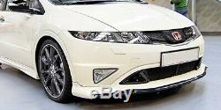 Honda Civic FN2 Type R Mugen Style Front Bumper lip with Add on