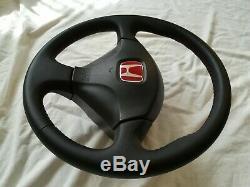 Honda Civic Type R EP3 JDM New Leather Steering Wheel SRS DC5 RSX CL7 EK3 EK9 OE