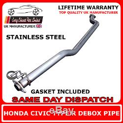 Honda Civic Type R EP3 Large Bore 2.5 Stainless Performance Race Debox Exhaust