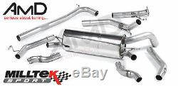 Honda Civic Type R FN2 Milltek Cat Back Exhaust System Non Resonated SSXHO201