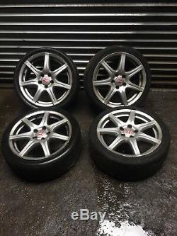 Honda Civic Type R Fn2 18 Alloy Wheels With Tyres 5x114.3 18x7.5 ET55