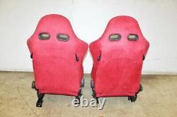 JDM Honda Acura RSX DC5 Type R SR4 Red Recaro Seats Pair LH RH EK9 DC2 Civic
