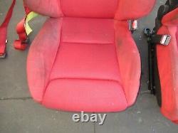 JDM Honda Civic Type R EP3 Recaro Front Seats Rails 2001-2005 Red CTR Recaro