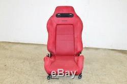 JDM Honda Integra Type R DC2 OEM Red Recaro Seat Civic EG EK SINGLE LH