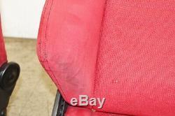 JDM Honda Integra Type R DC2 OEM SR3 Red Recaro Seats Civic EG EK with Rails ITR