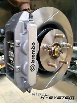 K-SYSTEM. Pro HONDA CIVIC EP3 / FN2 TYPE-R BREMBO 4-POT 324x30 FITTING KIT