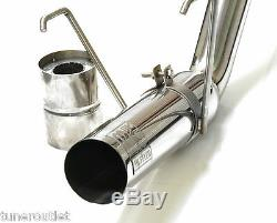 M2 Hornet Honda CIVIC 2.0 Type R Ep3 90mm Tip Exhaust Back Box + Bung 2.5 Y2842