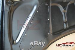 M Type Carbon Fiber Vented Bonnet FOR Honda Civic FN2 2007 2011 Type R