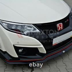 Maxton Design Front Splitter Lip V. 2 For Honda CIVIC Type R Fk2 15-17