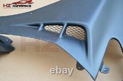 Mu Look Front Wings Fenders For Honda CIVIC Fn2 Type R 2006 2011 + Black Mesh