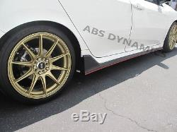 New 17-18 Honda CIVIC Hatch 5dr Type-r Style Side Skirt Extension Pp Carbon Look
