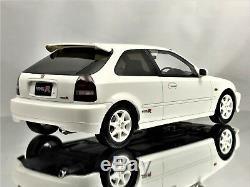 Otto Mobile Ottomobile Honda Civic Type R EK9 1999 JDM White Resin Car Mode 118