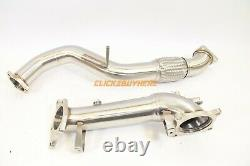 PLM 3 INCH DOWNPIPE and FRONT PIPE FOR HONDA CIVIC TYPE R 2017-2019 FK8 V2