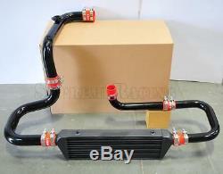 RDT Black Intercooler Piping S/RS Flange Red Coupler kit for 92-00 Honda Civic