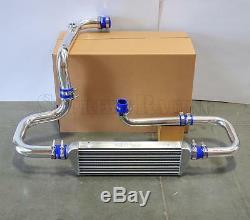 RDT Chrome Intercooler Piping S/RS Flange Blue Coupler kit for 92-00 Honda Civic