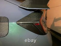 Real Carbon Fiber Rear tail lights Overlay Trim Fit Honda Civic type R fk8
