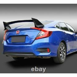 Real Carbon Fiber Type-r Style Rear Trunk Spoiler Wing Fit 16-20 Honda CIVIC 4dr