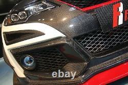 Real Carbon Fiber front canard fit Honda 2015 Civic Type-R FK2