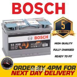 S5 A08 Bosch AGM Car Battery 12V 70Ah Type 096 S5A08