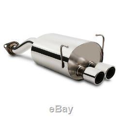 Stainless Exhaust Rear Muffler Backbox For Honda CIVIC Ep3 2.0 Type R 00-05