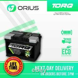 Torq X AGM Car Battery 12V 70Ah 760CCA Type 096 Free Next Day Delivery