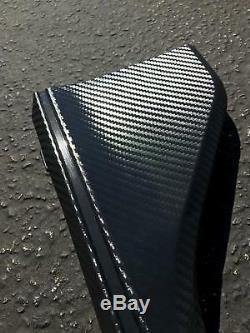 Type R Caron Fiber Style Side Skirt Plastic Extension For 2016+ Honda CIVIC Fk8