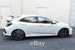 Type-R Style CARBON FIBER Rear Trunk Lip Spoiler For 16-Up Honda Civic Hatchback