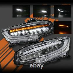 Type-R Style Ful LED Sequential Indicator Head lights for Honda Civic 2016-2020