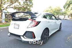 Type R Style Rear Trunk Wing Spoiler Body Kit For 16-Up Honda Civic Hatchback