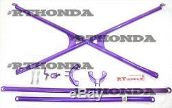 X-Bar + Pillar + Lower + Side Bar Rear Crossbar 96-00 Honda Civic 3dr EK9 Type-R