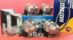YCP B16 B18 81mm JDM High Comp. Pistons+Rings+Bearings Acura Honda Civic Type R
