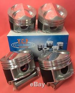 YCP B16 B18 82mm 040 JDM CTR High Comp Pistons + Rings Acura Honda Civic Type R